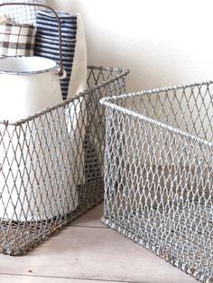 vintage wire basket.
