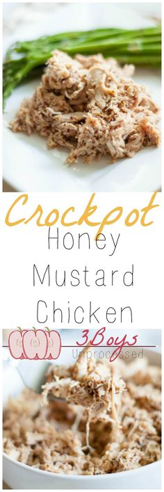 Crockpot Honey Mustard Chicken... you have got to try this to believe that a few simple ingredients can taste so good!