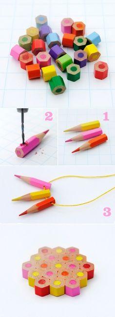 DIY Colored Pencils Jewelry ideas