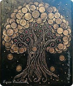 Доброго времени суток жителям и гостям Страны Мастеров! Представляю Вашему вниманию Денежное дерево, которое я сделала впервые. фото 3