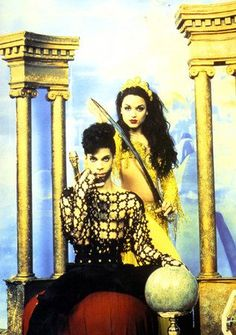 Prince and Mayte Garcia (His ex-wife. She is now on reality show Hollywood Ex's)