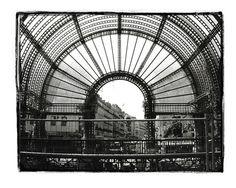 Vintage Les Halles Food Market, Paris, France.