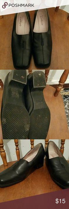 Strictly Comfort Heels Black med heel dress shoe Strictly Comfort Shoes Heels