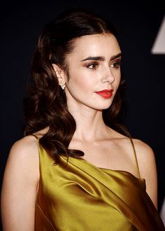 Lily Collins attends the Academy of Motion Picture Arts and Sciences' 8th annual Governors Awards at The Ray Dolby Ballroom at Hollywood & Highland Center on November 12, 2016.