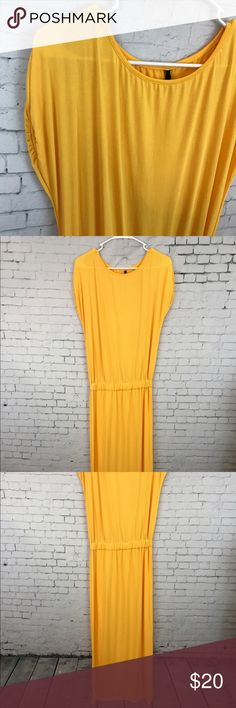 Zaful Yellow Maxi Dress Zaful yellow Maxi dress size large. One small spot at the hem. No pilling or holes zaful Dresses Maxi