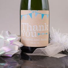 Luxury Personalised Champagne - Thank You Bunting | GettingPersonal.co.uk