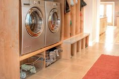 40 Stylish Laundry Room To Copy Today. Laundry rooms have the capability of being the most functional room in the home. Whether large or small, efficient and stylish laundry facilities can turn the mo. Laundry Room Shelves, Laundry Room Cabinets, Farmhouse Laundry Room, Laundry Room Organization, Laundry In Bathroom, Laundry Rooms, Organizing, Laundry Tips, Laundry Storage