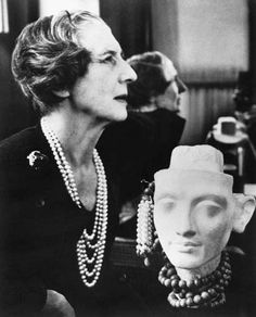 Jeanne Toussaint. (1887-1978) Art Director and designer Cartier Photograph by Cecil Beaton