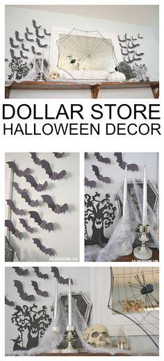 Dollar Store Halloween Decor