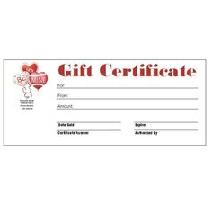 download the christmas gift certificate from vertex42 com it worked