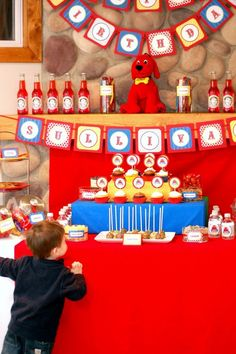 Clifford-inspired birthday party for Carrie's little Sully + free printables by Potter and Butler