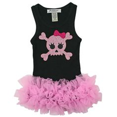 $36.99 - Jannuzzi Skull Bling Tutu Dress....so getting this if I stick to pirate them for rylee!!!