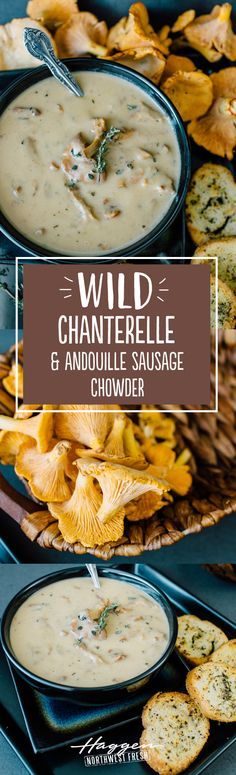Wild chanterelle and andouille sausage chowder ground sausage recipes sausage re. - Wild chanterelle and andouille sausage chowder ground sausage recipes sausage re… – Soup – - Chicken Andouille Sausage Recipe, Aidells Sausage Recipe, Andoille Sausage Recipes, Johnsonville Sausage Recipes, Chicken Recipes, Eckrich Sausage, Sausage Soup, Beef Recipes, Chanterelle Mushroom Recipes