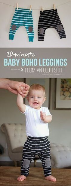 Baby Knit Leggings Sewing Tutorial