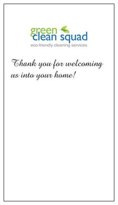 Thank You Notes WwwThemaidmentorCom  The Maid Mentor Cleaning