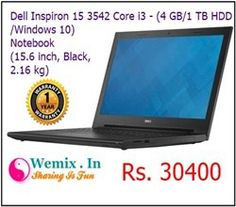 Dell Inspiron 15 3542 Core i3 4GB RAM 1TB HDD Laptop Rs 30400