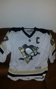 cdd3fc06609 ON EBAY hockey · Reebok Pittsburgh penguins hockey jersey Sidney crosby  87  size L XL youth