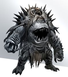 Hellknight of Gluttony, Karkodeo, are extremely durable monstrosities that will consume entire men whole on the battlefield, it is said it emits a horrible smell that can cause stomach pangs of hunger
