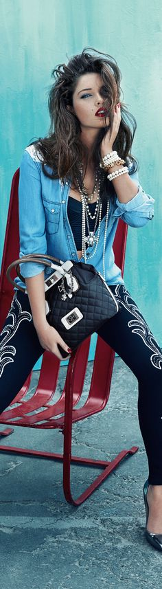 !!! Perfect red lip !!! ... Guess Accessories Fall 2013 Ad Campaign