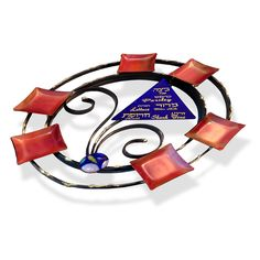 Jewish Passover Gifts-Round Tabletop Sculpted Seder Plate