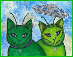 alien paintings - Google Search