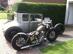 Swingarm Panhead springer custom and topless Model T hot rod