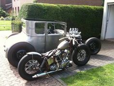 Swingarm Panhead springer custom and topless Model T hot rod