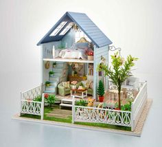 Nordic Holiday  DIY Miniature House Kit