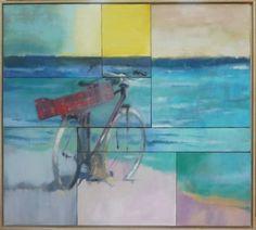 "Saatchi Art Artist Laura Beatrice Gerlini; Painting, ""Kelibia Beach. Tunisia. Mosaico"" #art"