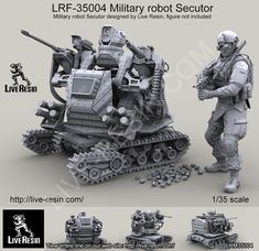 1/35 scale Military Robot Secutor from Live Resin, now in stock!