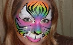 Image result for rainbow butterfly face paint