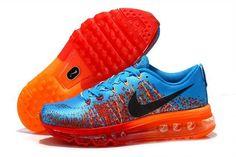 Nike Air Max 2014 Mens Shoes Blue Orange Red Orange Reduced