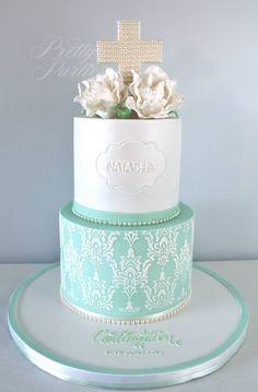 Pretty Parties - Custom Cakes CH-28 Christening / Communion / Confirmation Cake www.prettyparties.net.au