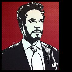 Tony Stark Papercut Portrait