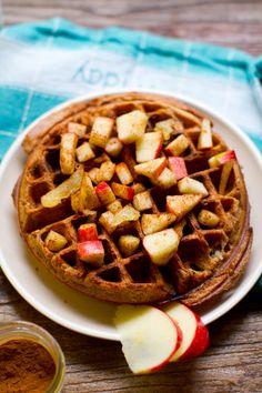 apple cinnamon ginger waffles: recipe here