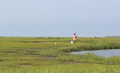 Great Bay in Tuckerton, NJ is a popular crabbing and fishing area in the summer..
