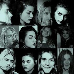 Kurt & Frances Bean Cobain. Still can't get over how much they really do look a like.
