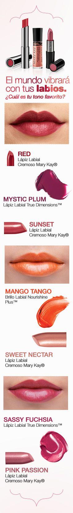 Haz que tus labios se vean irresistibles con los tonos que te harán brillar cada día de una manera única. Descubre más colores y texturas en www.marykay.com.co ¡Nunca dejes de resaltar tu belleza!