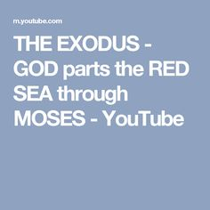 THE EXODUS - GOD parts the RED SEA through MOSES - YouTube