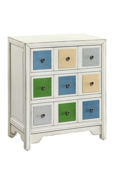 Edsall 3 Drawer Chest - Antique White by Furniture Deals For Every Style on @HauteLook