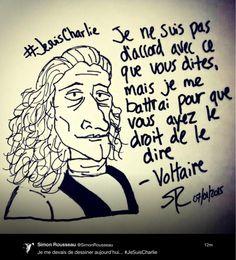 La liberté d'expression, de presse, inconditionnellement. Bravo @SimonRousseau. #CharlieHebdo