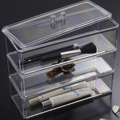 BerucciTM Clear Acrylic Jewelry Makeup Cosmetic Organizer Holder