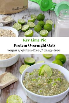 Key Lime Pie Protein Overnight Oats {Vegan} - Eat the Gains