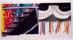 James Rosenquist Off the Continental Divide, Published by Universal Limited Art Editions, New York; printed by Bill Goldston and James Smith, Reynolda House, Continental Divide, Amazing Paintings, Nature Prints, Wood Print, American Art, Impressionist, Art Images, Home Art