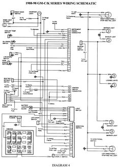 gmc truck wiring diagrams on gm wiring harness diagram 88 98 kc rh pinterest com 1994 chevy 3500 wiring diagram 2000 Chevy Silverado Wiring Diagram