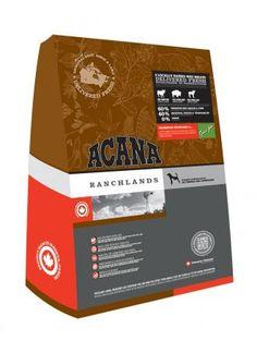 Acana Ranchlands pienso para perros (sin cereales). Pienso para perros ACANA RANCHLANDS DOG. Alimento / Comida para perros indicada para todos los perros de todas las razas con problemas inmunitarios y de pelaje. Ingrediente principal: Ternera.
