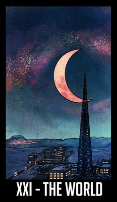 WTNV Tarot XXI - The World: The Town and The Void #nightvale