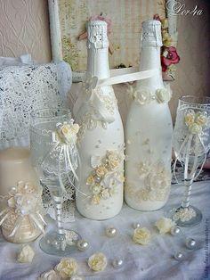 Купить или заказать Свадебный комплект в интернет-магазине на Ярмарке Мастеров. Свадебный комплект нежно-кремового цвета станет прекрасным дополнением Вашего торжества.