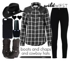 """""""wild west style"""" by j-n-a ❤ liked on Polyvore featuring Dingo, Current/Elliott, STELLA McCARTNEY, Master Hatters of Texas, NARS Cosmetics, Rick Owens, OPI and wildwest"""