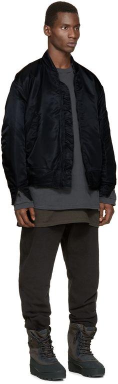 YEEZY Season 1 Black Nylon Bomber Jacket